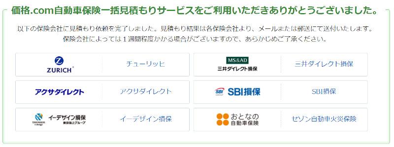 価格.com自動車保険で一括見積り